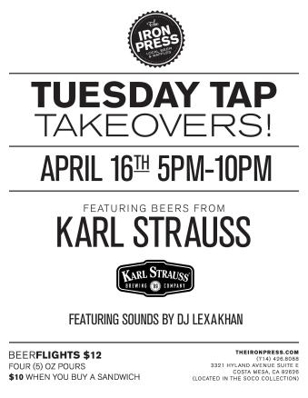 Tuesday Tap Takeovers - The Karl Strauss Revival Edition